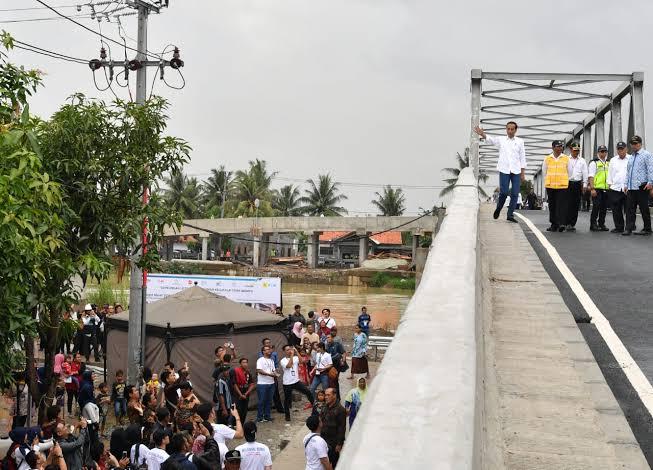 pada Rabu, 30 Januari 2019, jembatan sepanjang 82 meter dengan lebar 5 meter telah membentang di atas Sungai Citarum.