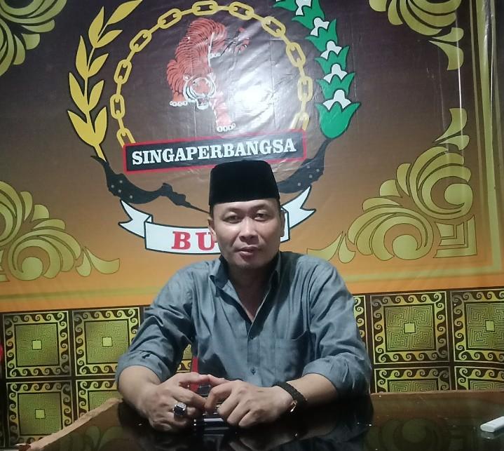 Ketua Ormas Brigade Adipati Singaperbangsa (Buas) Karawang Heri Kho