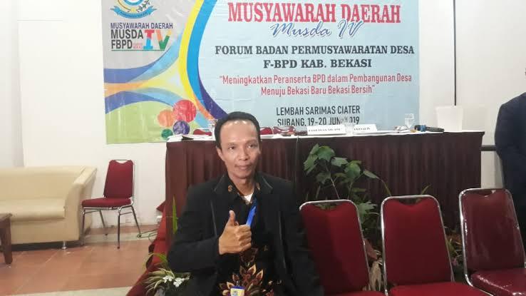 Ketua Forum BPD Kabupaten Bekasi H. Karno