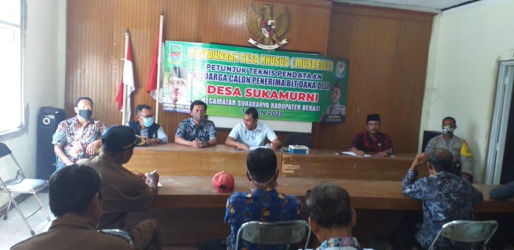 Musdesus Desa Sukamurni Kecamatan Sukakarya. (Foto : Redaksi)