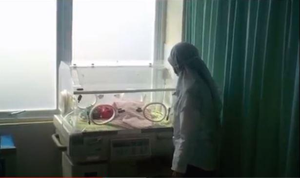 Kondisi bayi di Puskesmas Cikarang Utara. Kamis (7/5/2020) (Foto iNews.id: Didit).