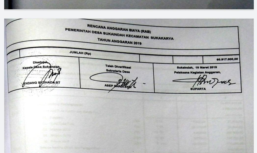 Dokumen, penunjukan PKA Desa Sukaindah Kecamatan Sukakarya. (Foto:Redaksi)