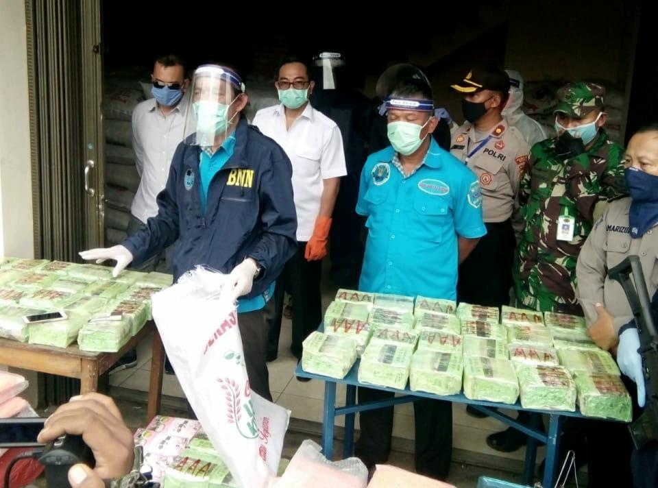 Barang Bukti Narkoba yang berhasil diamankan BNN di Bekasi