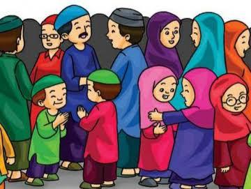 Ilustrasi : kumpul bersama keluarga saling silahturahmi saat lebaran