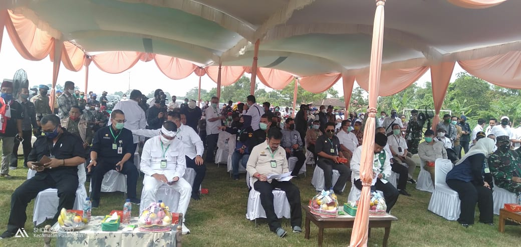 Kunjungan Mentri Pertanian RI ke Kabupaten Karawang Jawa Barat