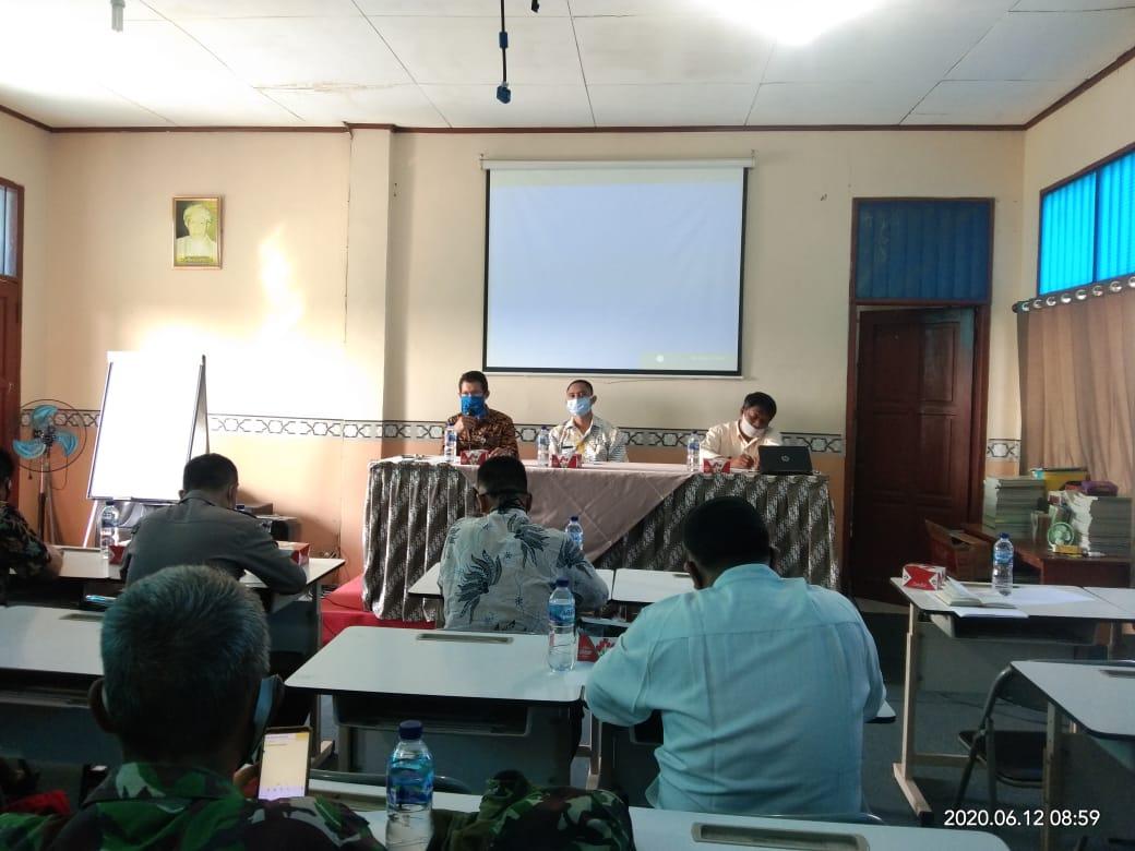 sosialisasi tentang proses Penerimaan Peserta Didik Baru (PPDB) tahun ajaran 2020/2021, SMPN 1 Babelan Kabupaten Bekasi