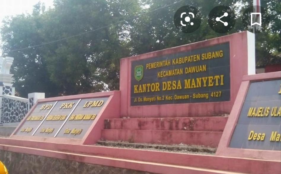 Kantor Desa Manyeti Kecamatan Dawuan Kabupaten Subang Jawa Barat (Foto : Nendang/potretjabar.com)