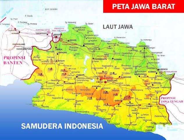 Ilustrasi : peta Jawa Barat