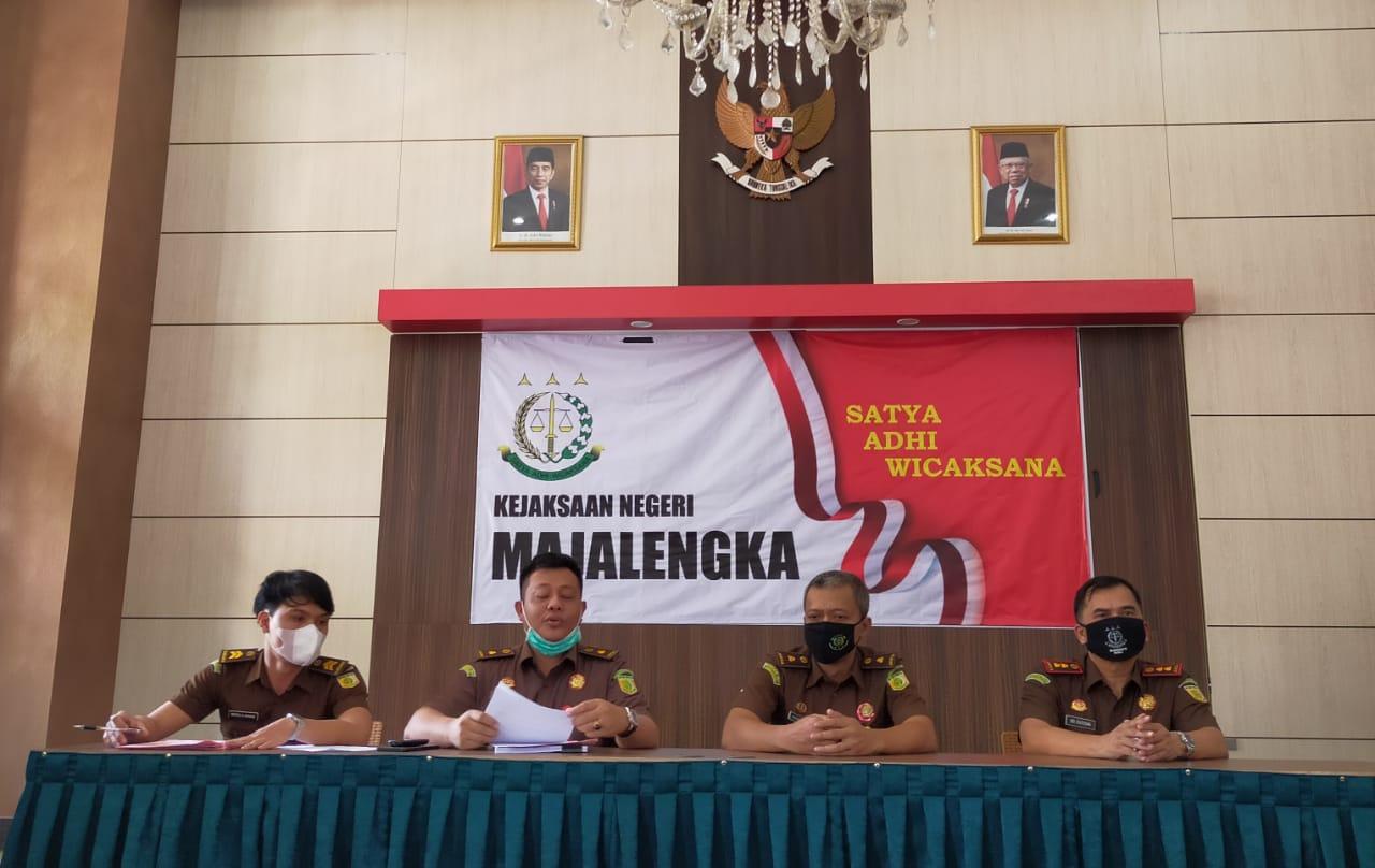 Jumpa pers Kejaksaan Negeri Majalengka Jawa Barat