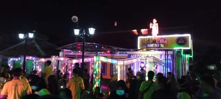 Perayaan pesta ulang tahun Bupati Bekasi Eka Supria Atmaja di kediamannya