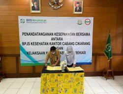 Kejari Kabupaten Bekasi Bersama BPJS Kesehatan Tandatangani Kerjasama Bidang Datun