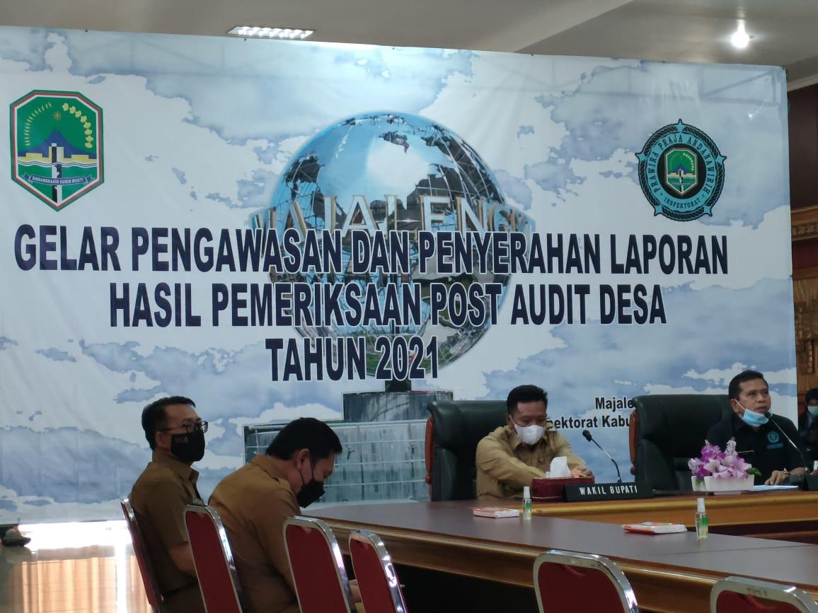 hasil pemeriksaan post audit desa yang dilakukan Inspektorat menghasilkan 1285 temuan dan 1733 rekomendasi.