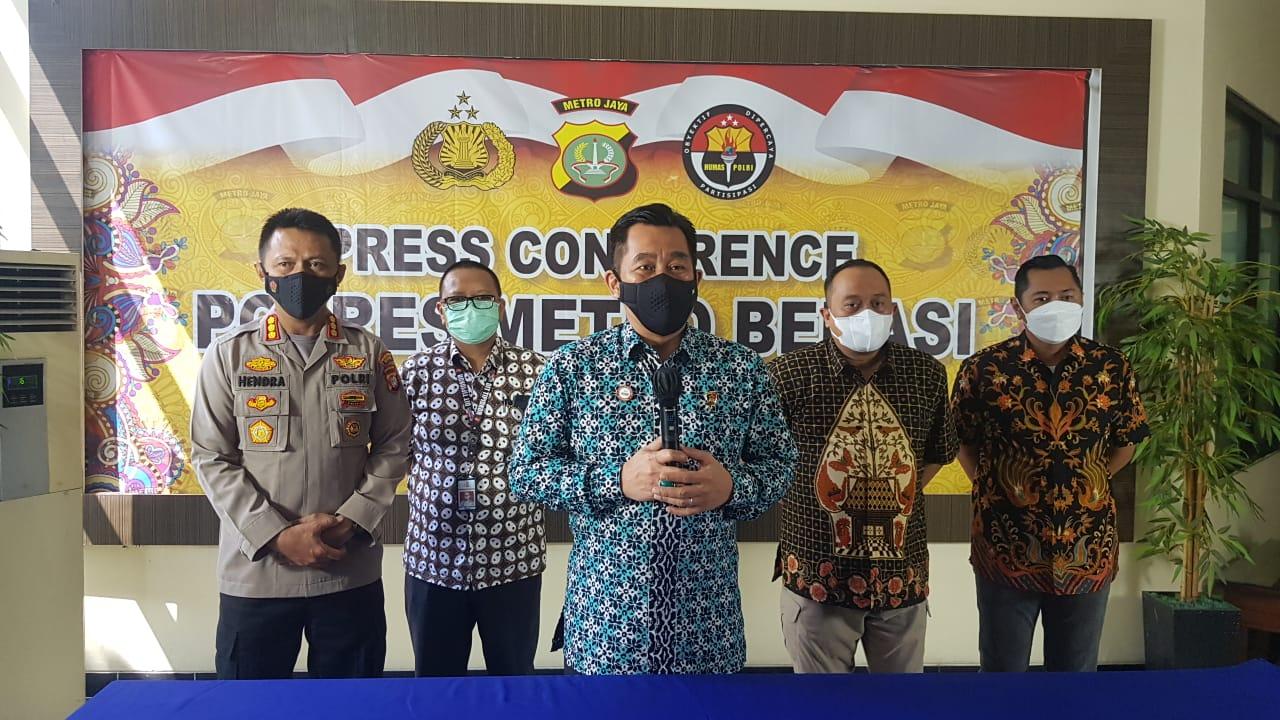 Direktur Tindak Pidana Korupsi Bareskrim Mabes Polri Brigjen Pol Djoko Poerwanto di Cikarang, Jumat.
