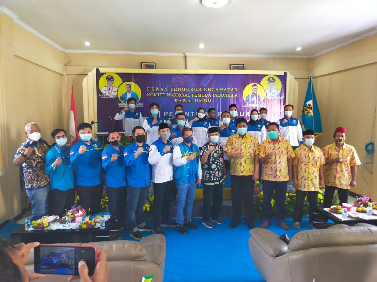 DPD KNPI Kota Bekasi Mardani Ahmad resmi melantik Rizky Ferdiansyah sebagai Ketua DPK KNPI Rawa Lumbu pada hari sabtu 12 Juni 2021, Rizky menjabat Periode 2021 2023. Pelantikan dilangsungkan di aula Kecamatan Rawa Lumbu Kota Bekasi,