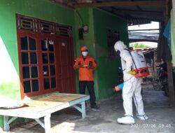 Katana Gandeng PT. BBWM Melakukan Penyemprotan Disinfektan di Kedungjaya