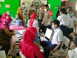 750 Pelajar SMP di Tarumajaya Ikut  Gebyar Vaksinasi