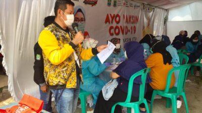 Anggota DPRD Kota Bekasi Kunjungi Vaksinasi Hasil Kolaborasi PMI dan Pemkot