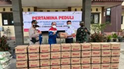 Pertamina Peduli, 2.500 Peket Sembako Program Vaksinasi Diberikan untuk Warga Cabangbungin